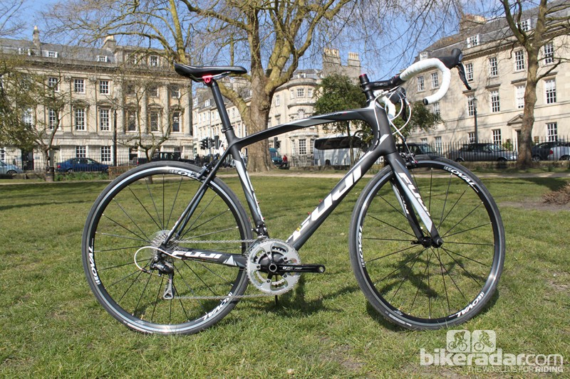 The Fuji Gran Fondo 2.1 is a mid-range carbon road bike for those who want to put the miles in