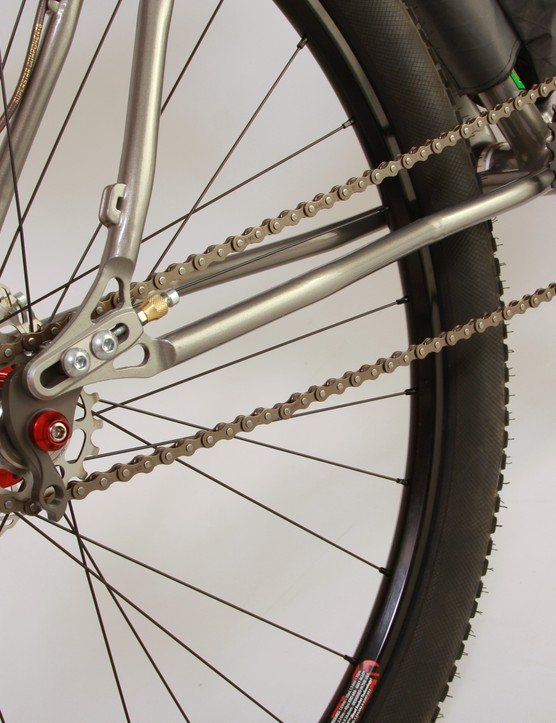 The first Element is single speed, but a rear hanger means gearing is an option