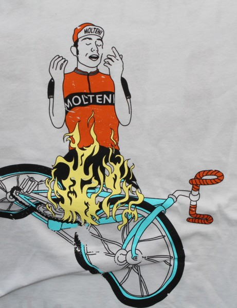 Riders of a certain generation won't need this explained. For everyone else: this is a mash-up of a famous Jimi Hendrix photo and the one and only Eddy Merckx