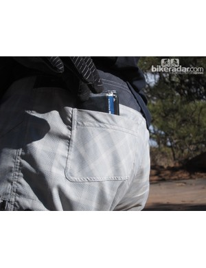 More fashion than function, there was barely enough room in the Mountain Surf's back pockets for a very small and thin wallet