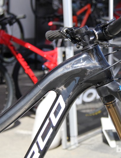 The carbon frame is curvier than the alloy frame