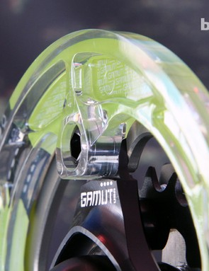 Gamut's latest polycarbonate bashguards feature aluminum inserts and larger-diameter fillets to improve toughness