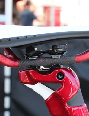 The two-bolt post is easy enough to adjust if your saddle has side clearance