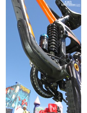 The down tube will be armored with a big rubber guard
