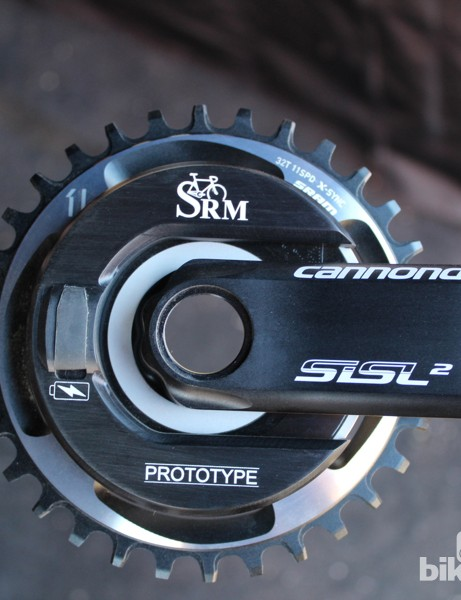 The SRM team in Colorado Springs, Colorado, is testing a USB-rechargeable design on MTB cranks