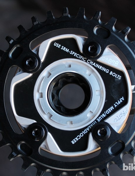 SRM spiders calculate and send torque values four times a second