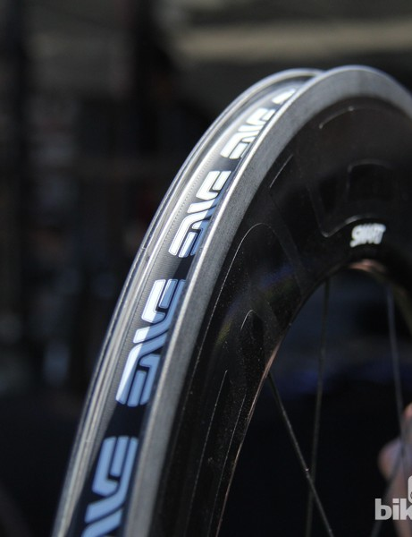 Like ENVE's other rims, the 8.9 has molded spoke holes and a textured braking surface