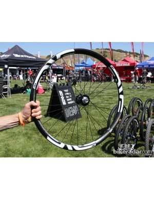 The 27.5 DH rim may hint at what the Santa Cruz Syndicate team will be racing on this season.