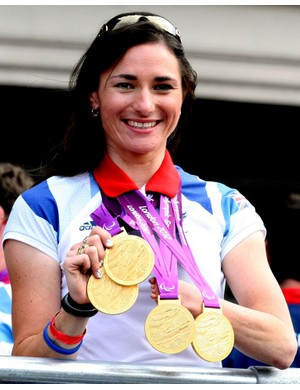 Sarah Storey shows off her London golds