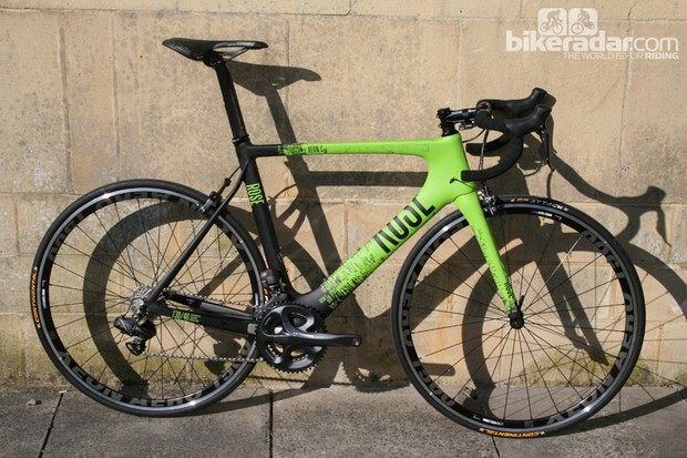 The Xeon CW is Rose's wind tunnel-developed carbon road race frame