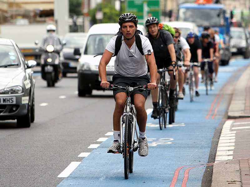 Cycling superhighways could become more common if the Get Britain Cycling recommendations are implemented
