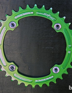 Race Face is phasing out its gold-anodized color option in favor of this bright green