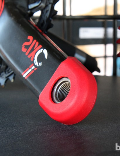 Race Face offers protective plastic caps for its carbon cranks to guard against rock damage - but they also fit on many other brands and models, too, and they're a fantastic way to help keep your crankarms looking like new