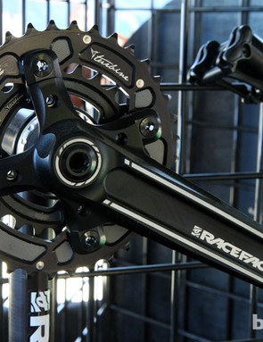 Race Face's long-running Turbine forged-and-machined aluminum cranks get smaller inner chainring options - great for the new crop of longer-travel 29er trail bikes