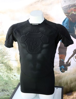Race Face's new Flank Core armored base layer features d3o reactive pads in the shoulder and back that are removable for washing