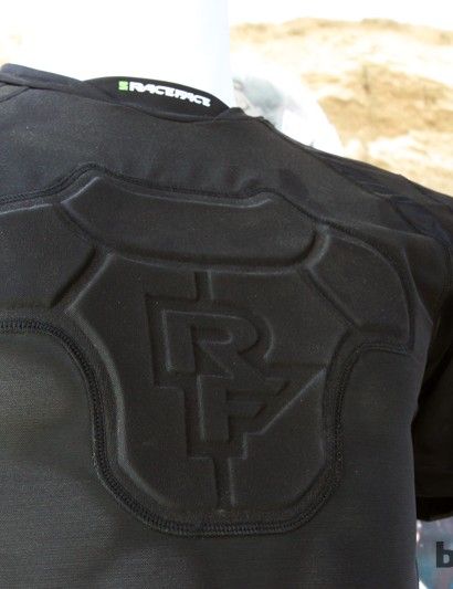 The chest panel on the new Race Face Flank Core armored base layer is made of a more conventional foam