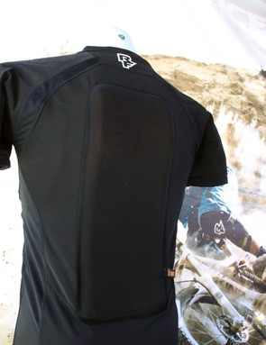 d30's reactive padding stays soft and flexible in most conditions but stiffens up dramatically when hit with a fast impact. The back panel is removable if you're wearing a hydration pack and don't need the extra protection
