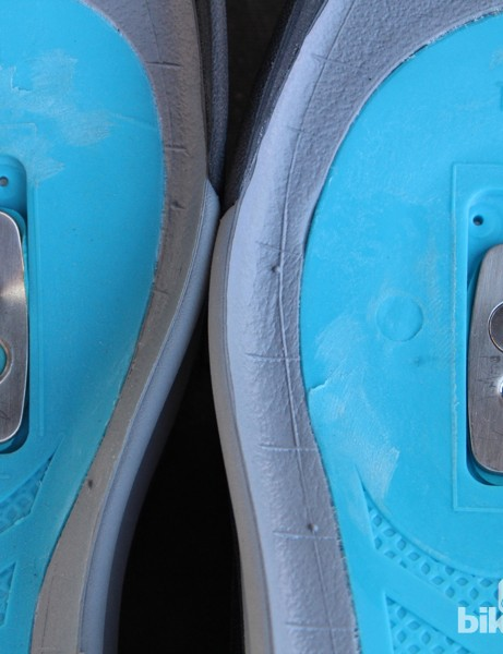 You can bolt your cleats from the bottom up (at left) or use the included T25 to screw down into compatible cleats