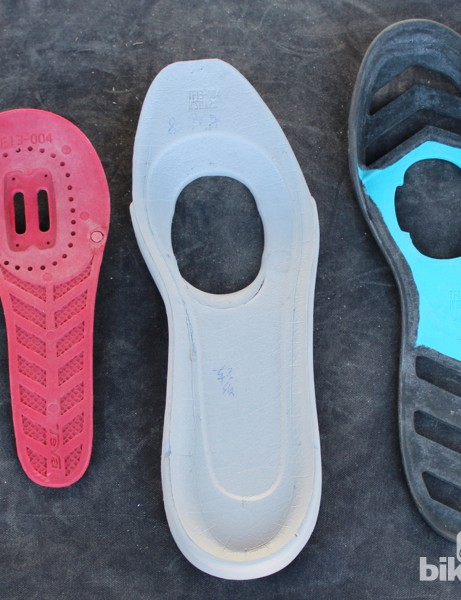 The three-piece sole features a relatively short shank for more flexibility at the toes