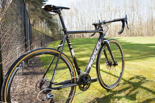 The Ridley X-Night is the first production cyclocross bike with SRAM's forthcoming Red 22 HRD group