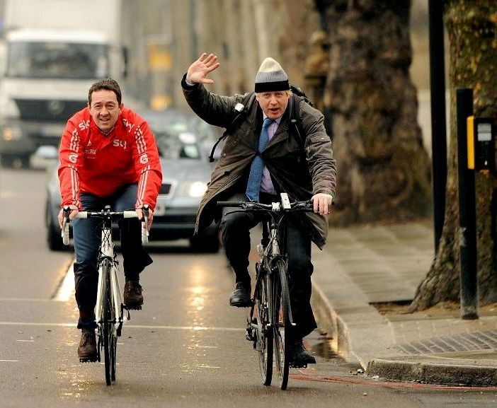 Chris Boardman arrives at the launch of London Mayor Boris Johnson's Vision for Cycling in March