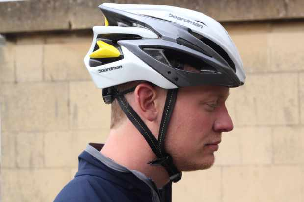 The Boardman helmet can be used on or off road, and comes with a removable visor.