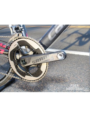 One concession to price is made with the SRAM-series crank