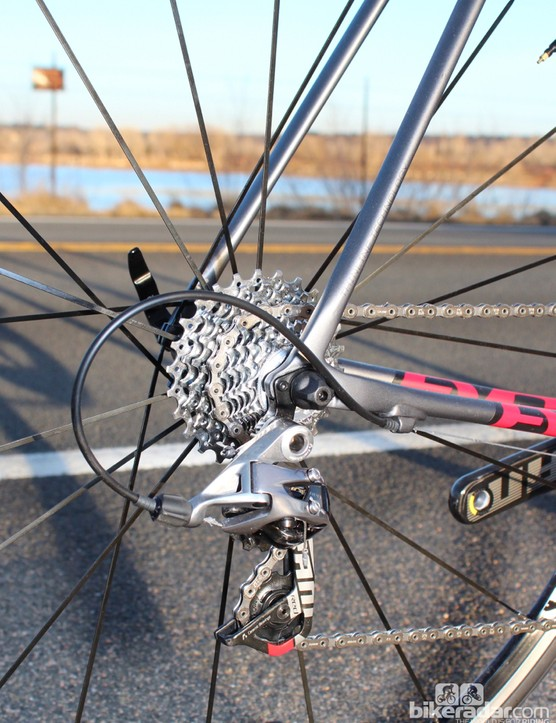 A Red 2012 derailleur and a 1070 (Force-level) cassette