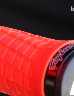 ODI's Troy Lee Designs grips are made with a directional pattern that lends tremendous purchase when rolling your wrists in a specific direction