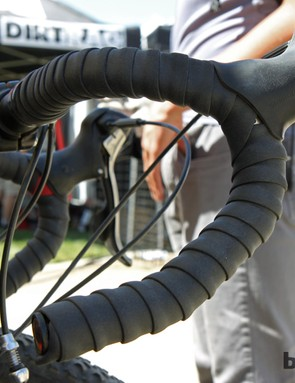 ESI is developing handlebar tape made of the same cushy (and very stretchy) silicone foam rubber used in its popular mountain bike grips