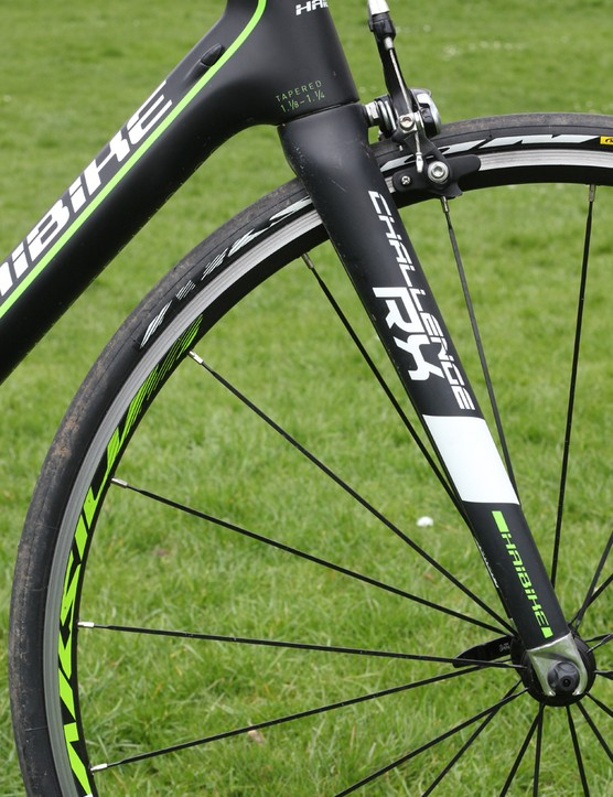 All the bikes in the Challenge series come with Mavic Aksium wheels