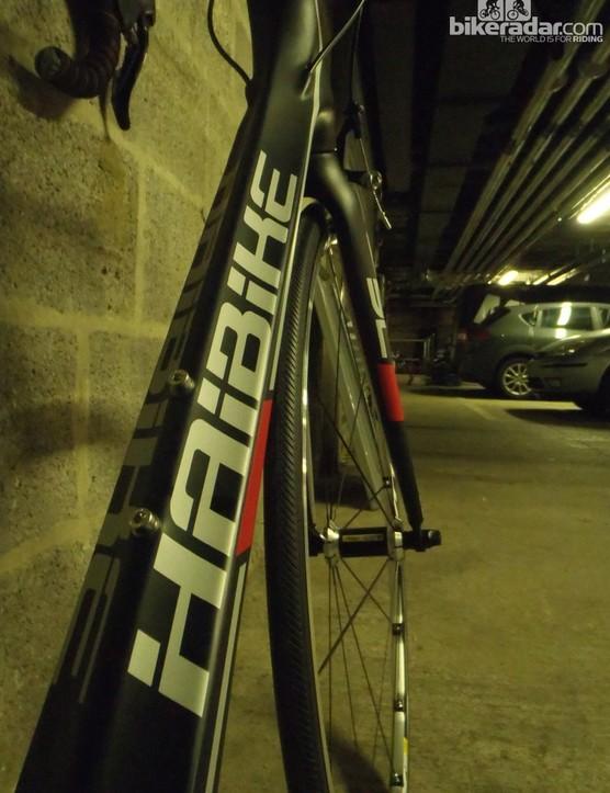 Haibike's road bikes have distinctive tube shaping