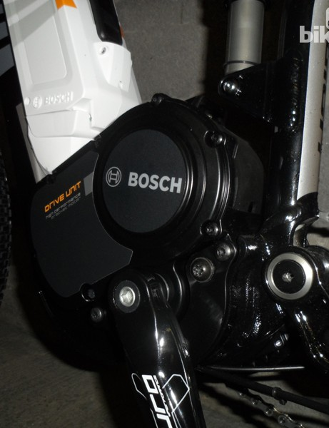 The Bosch drive unit fits snugly above the bottom bracket