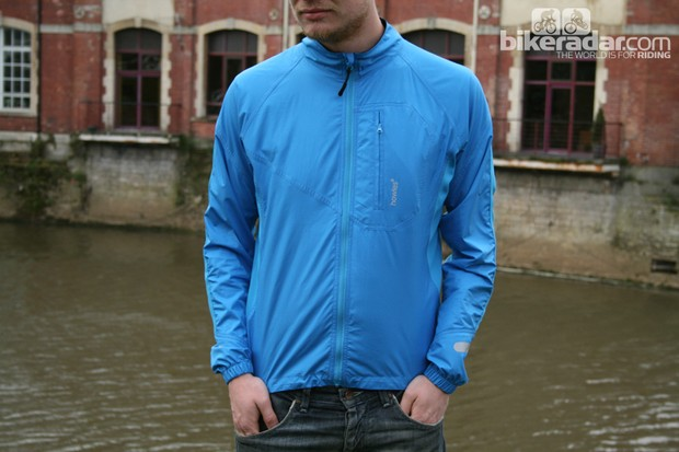 The windproof Dyfi Active Shell packs down small, has a hydrophobic coating to keep spray off and offers protection from the wind