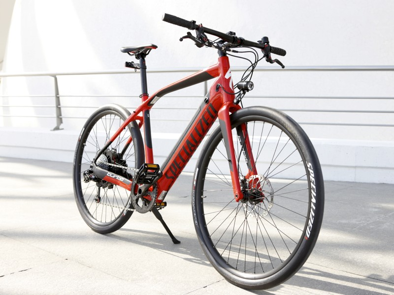 The Specialized Turbo is an electric-assist bike with a top assisted speed of 27.9mph