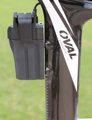 Development of the Norcom Straight post - with the Di2 battery mount - began before Shimano announced its round internal battery