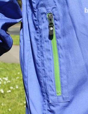 Waterproof zips throughout