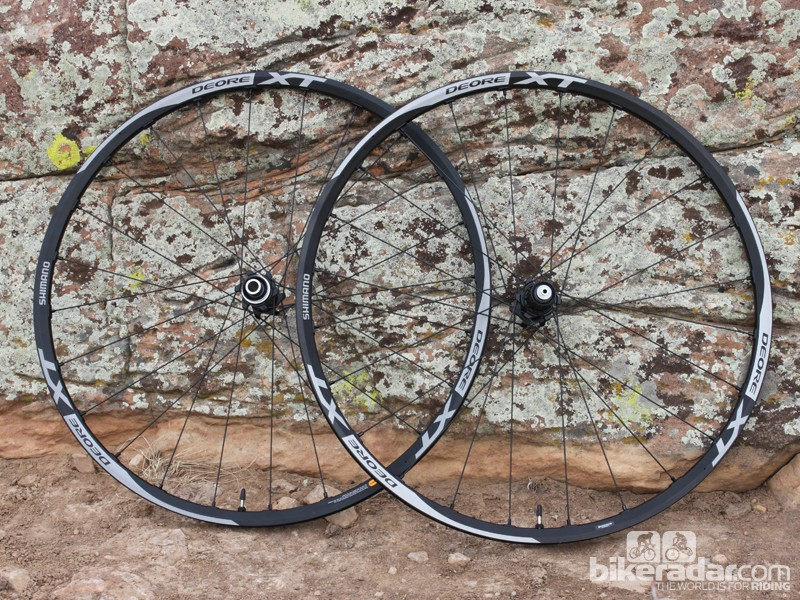 Shimano's XT level 29er wheelset is sturdy, yet has some significant shortcomings