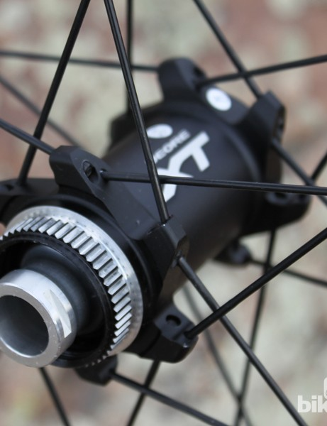 The 24-hole hubs use Shimano's Center Lock rotor mounting system