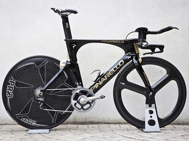 The Pinarello Bolide time trial bike - the successor to the Graal