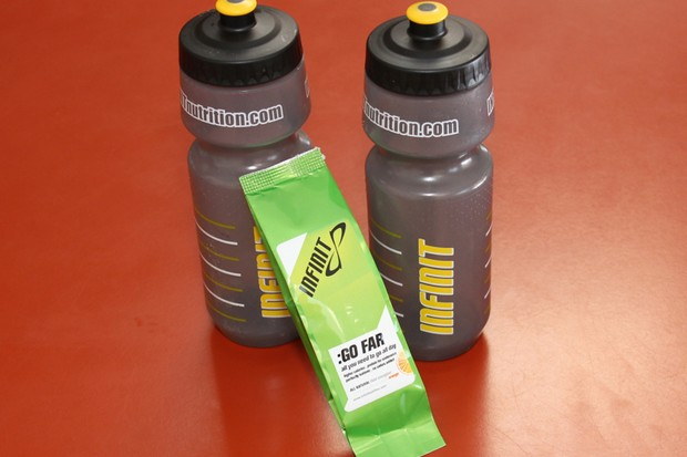 Go Far is a 280-calorie drink mix designed as a food replacement while on the bike