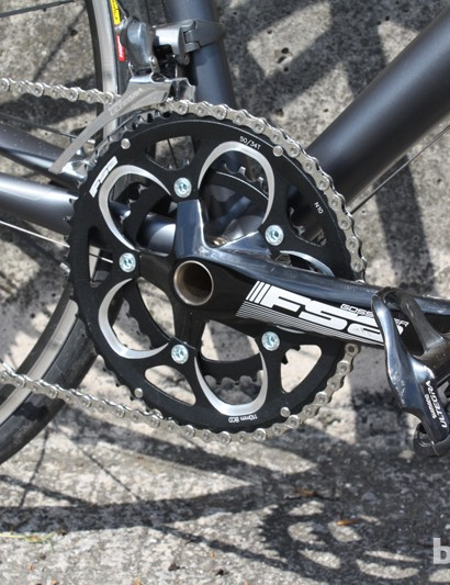 FSA's Gossamer compact chainset is the only exception from a full Ultegra group
