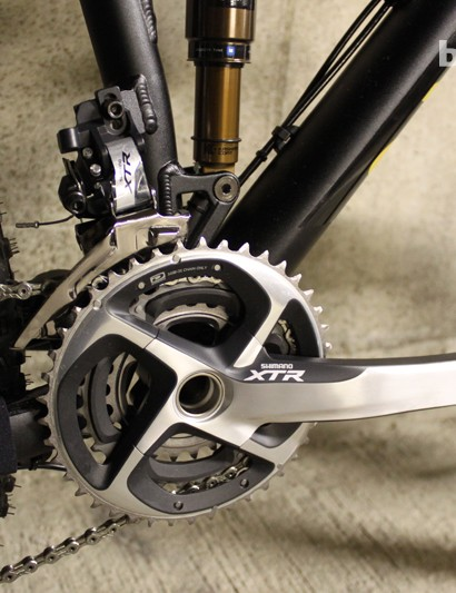 Shimano's top-of-the-range XTR groupset and Shadow Plus clutch rear mech deliver precise and reliable shifting