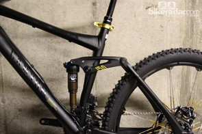 This bike uses a classic four-bar suspension design