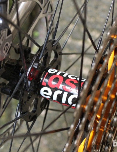 The 650b wheelset on our sample is by American Classic and Stan's