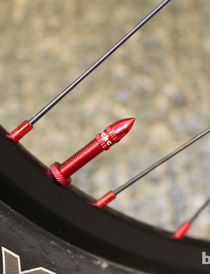 The tiny flashes of red all over the bike are evidence of the attention to detail that's gone into putting it together
