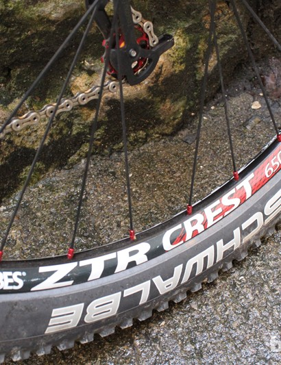 The Stan's rims are partnered by Schwalbe 650b rubber
