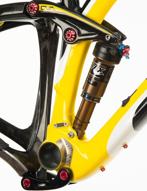 The Jet 9 RDO has four inches of rear suspension travel via Niner's CVA suspension design