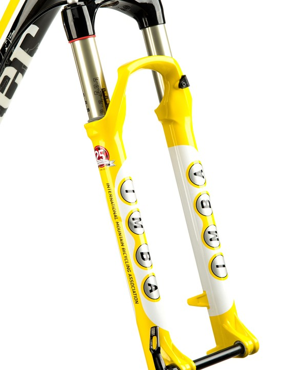 A painted to match RockShox SID XX fork is included with each frame