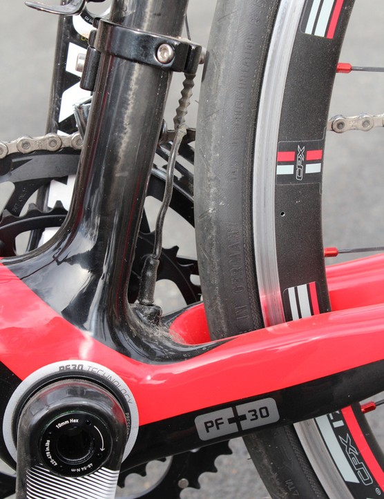 A flexible sleeve on the derailleur cable might not win any engineering awards, but...